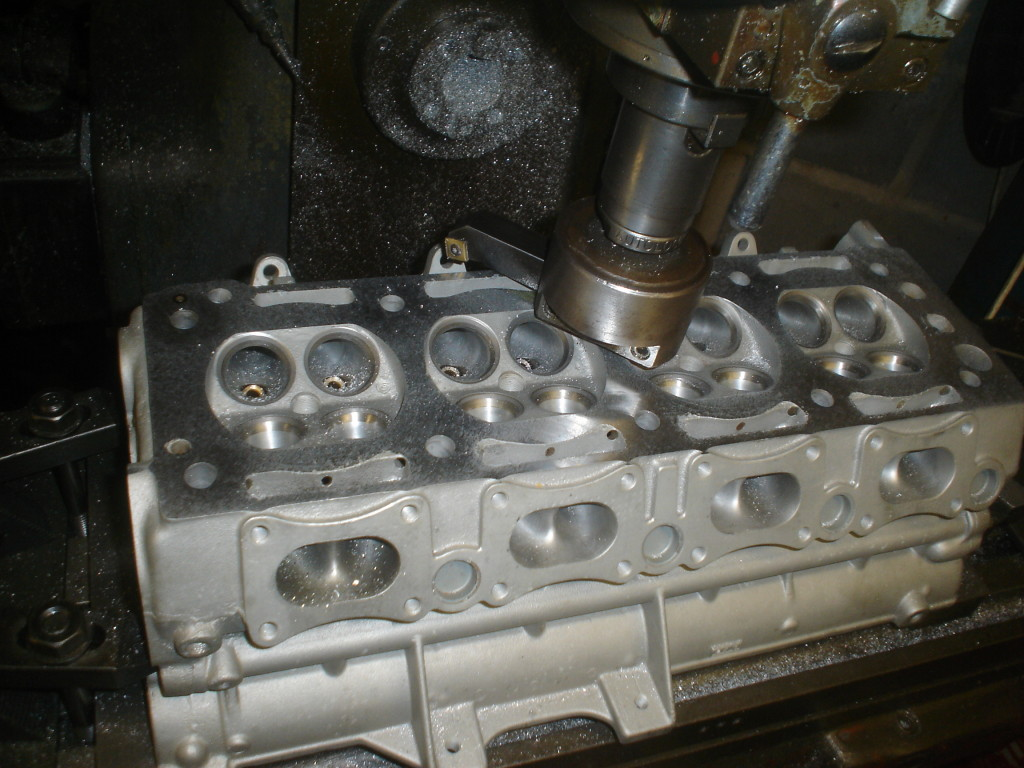 Fully ported Cosworth YB cylinder head.