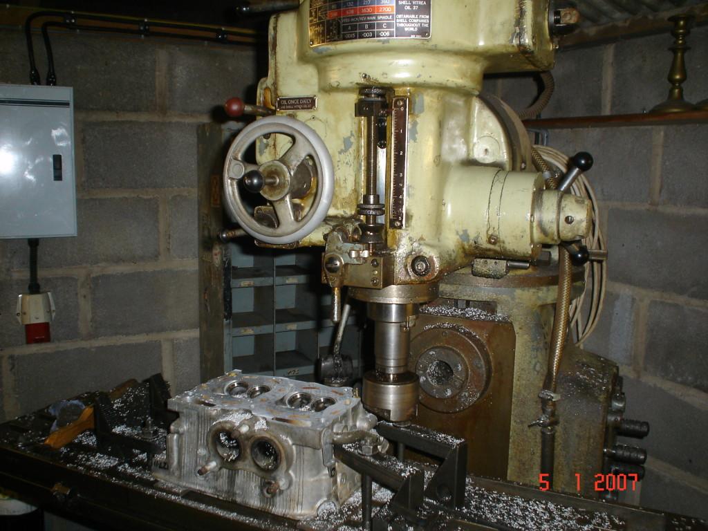 Milling machine used to skim heads and blocks.